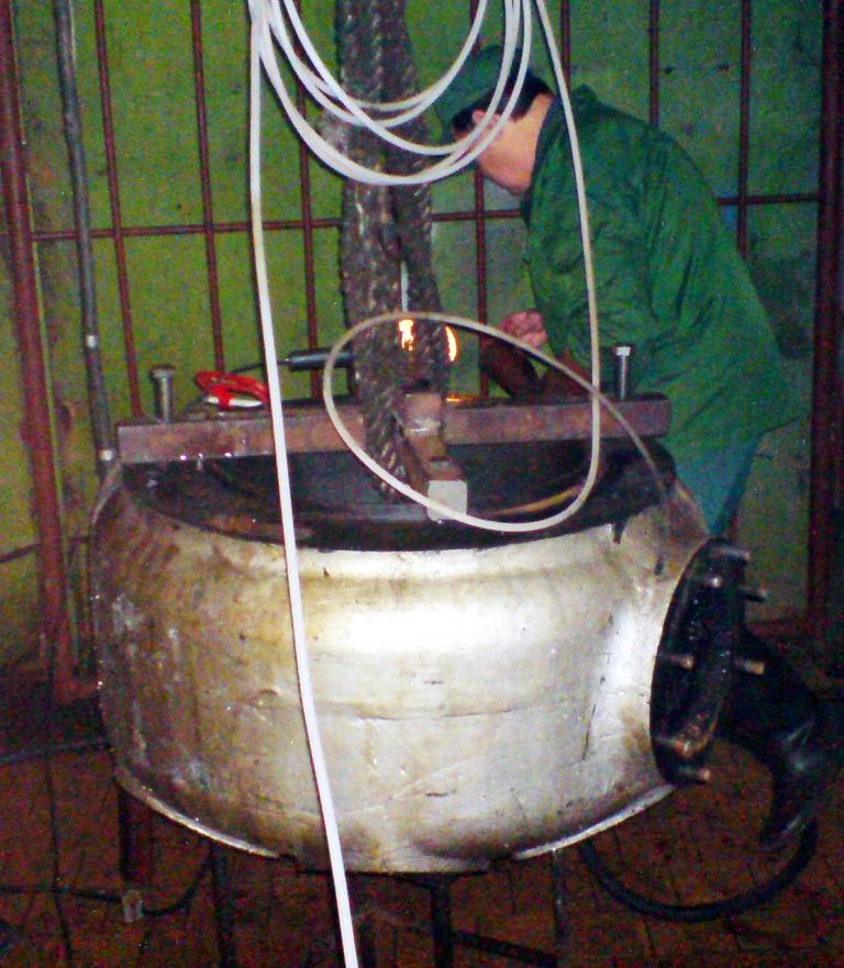 очистка рубашки охлаждения компрессора